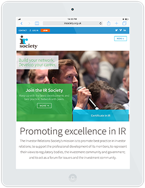 Web design and development for the IR Society