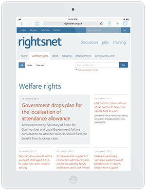Web design and development for rightsnet