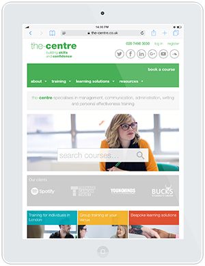 Web design and development for The Centre